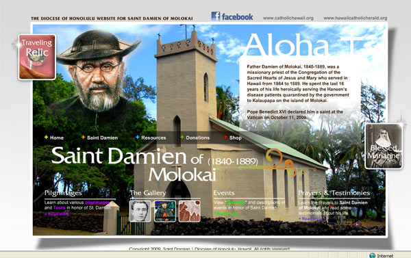St. Damien on the Web