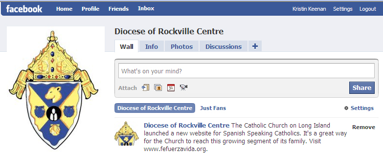 Connect with the Diocese on Facebook